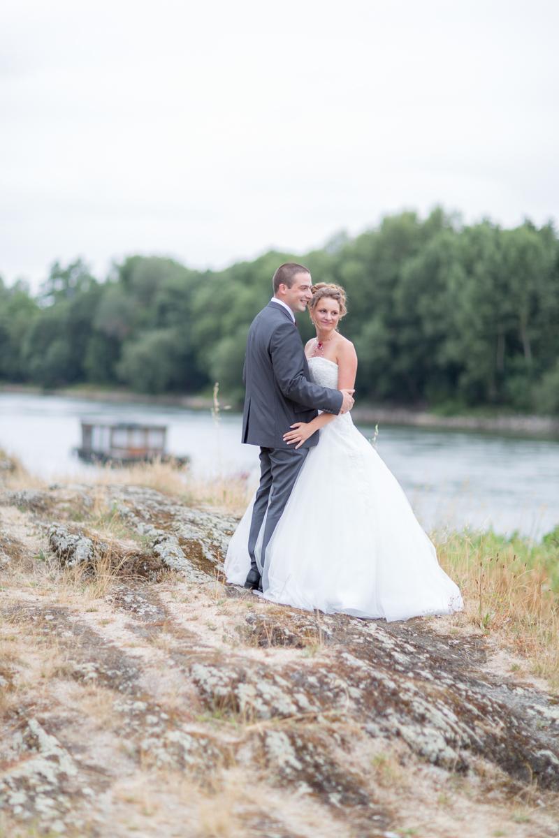 Séance couple au bord de Loire