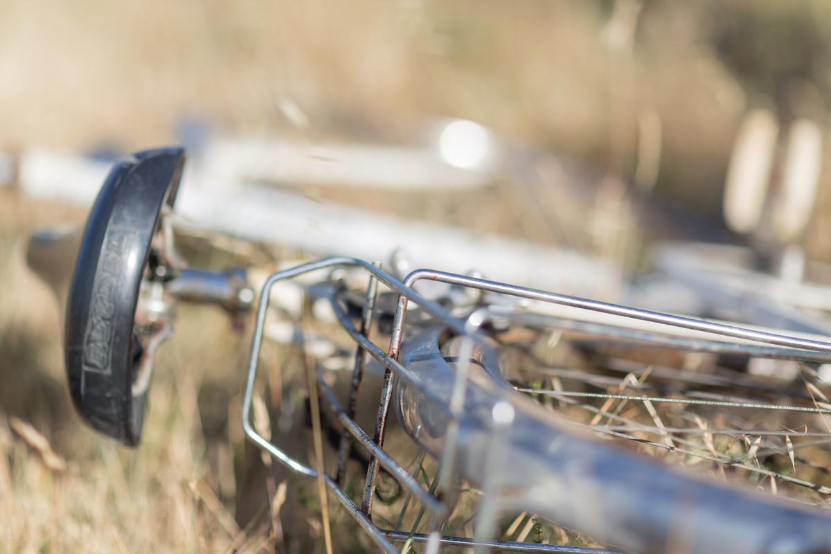 Détail de vieux vélo