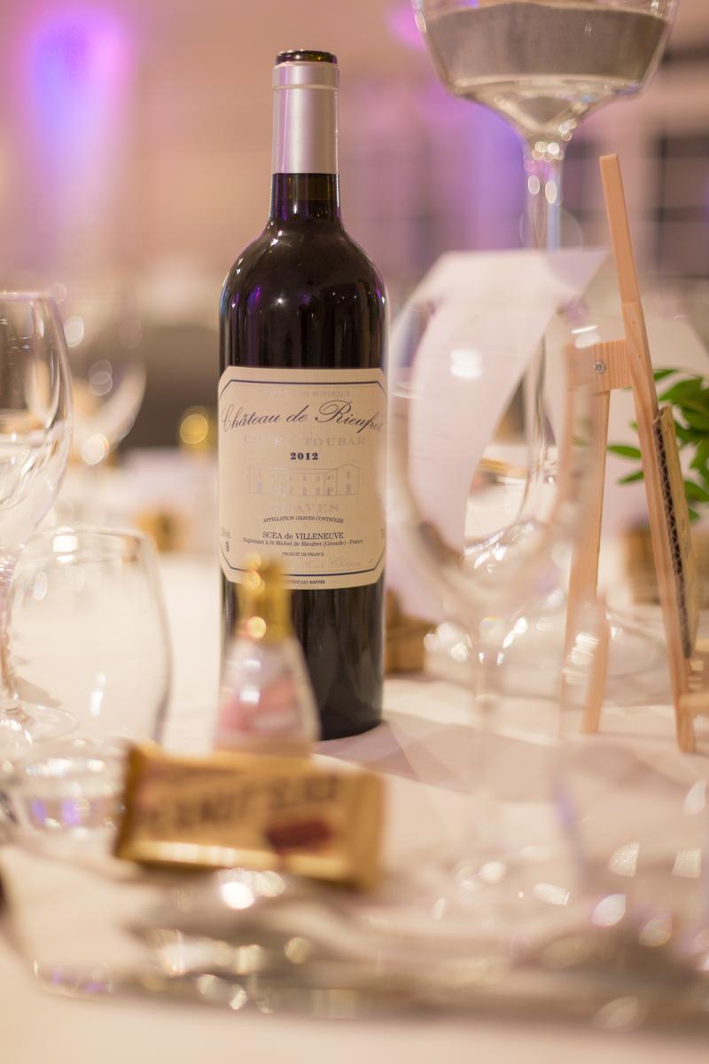 Thème de mariage sur les vins de France